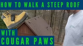 How to walk a steep roof - cougar paws (spring 2018)