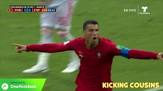 YOUNG RONALDO and KICKING COUSINS and Spain vs Portugal Goals!!