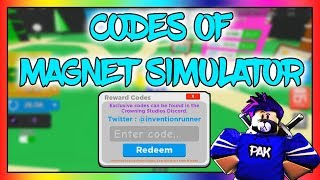 CODES OF MAGNET SIMULATOR | ROBLOX | itsPak Gaming