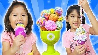 ●普段遊び●つぶつぶ粘土でアイス屋さんごっこ♡まーちゃん【5歳】おーちゃん【3歳】Fleck clay Ice shop pretend