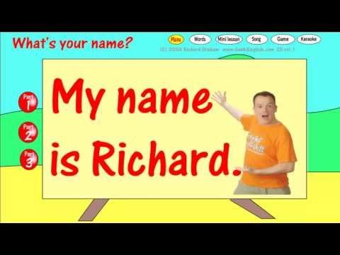 สื่อการเรียนรู้แท็บเล็ต ป.1 ภาษาอังกฤษ What your name