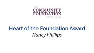 Heart of the Foundation Award - Nancy Phillips