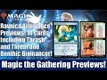 MTG Ravnica Allegiance Previews: 14 Cards Including Thrash and Threat and Benthic Biomancer