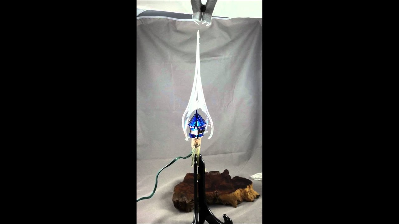 Blue Merry Glow Round Rotating Tree Topper Light Youtube