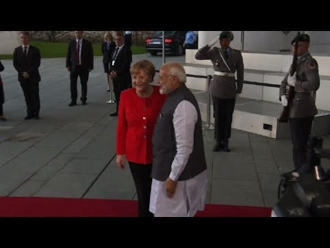 Angela Merkel welcomes India's PM Modi to Berlin