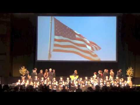 National Anthem at RH graduation 2013