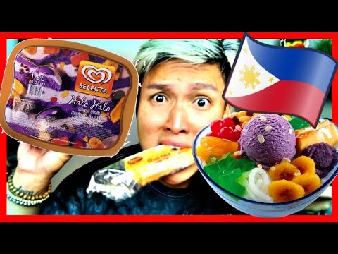TRYING FILIPINO ICE CREAM FLAVORS!