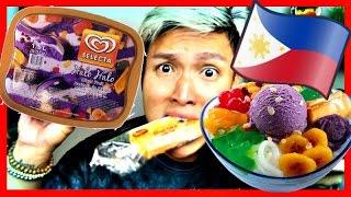 TRYING FILIPINO ICE CREAM FLAVORS!
