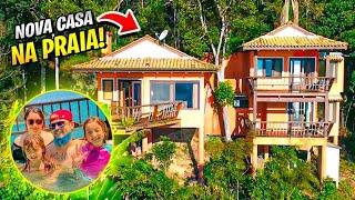 TOUR PELA NOSSA NOVA CASA NA PRAIA! Férias em Família Ep2 - CAÇADORES DE AVENTURAS