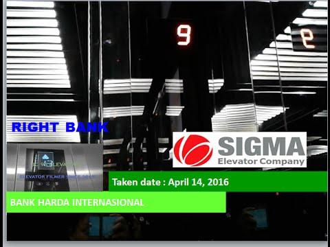 Sigma Traction Elevators at Bank Harda International, Jakarta