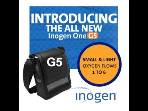 Best Portable Oxygen Concentrator 2020 Inogen One G5, High Flow, Settings 1 to 6. The smallest, lightest