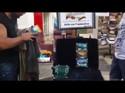 Amazing street art painting 3D picture in 1 minute – spain