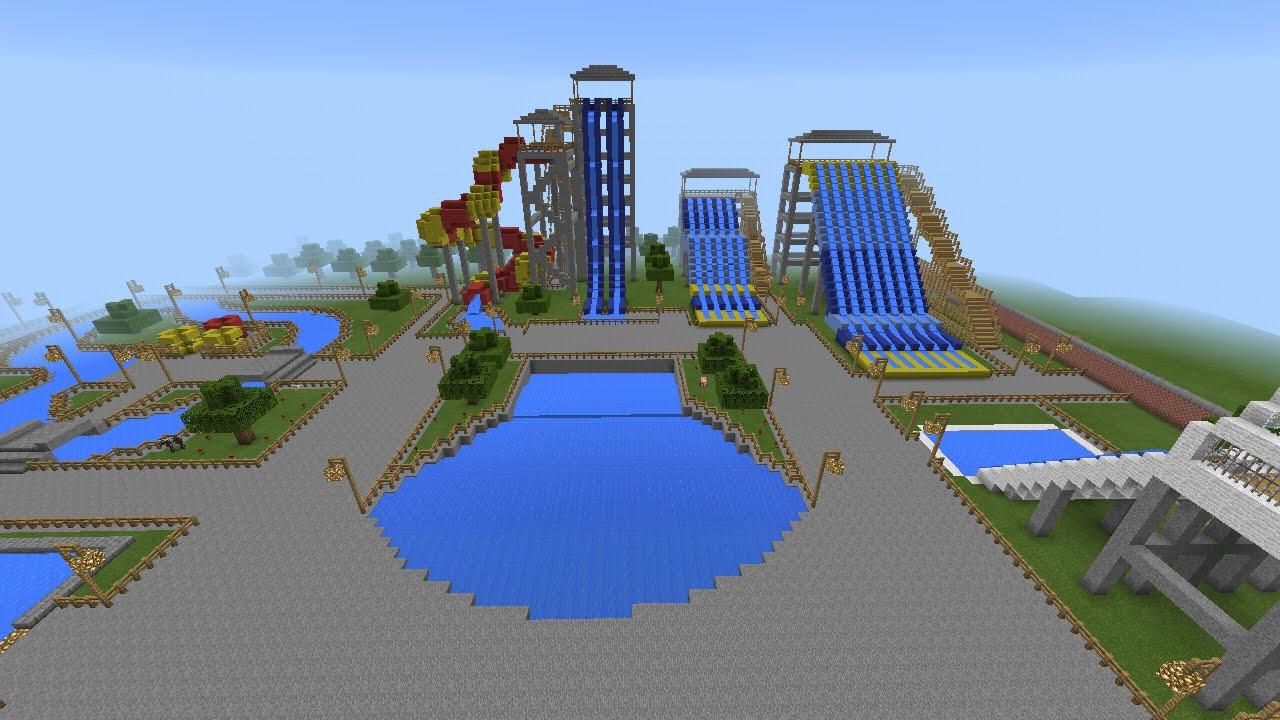 Mapa de parque aqu tico para minecraft pe youtube for Para desarrollar un parque ajardinado