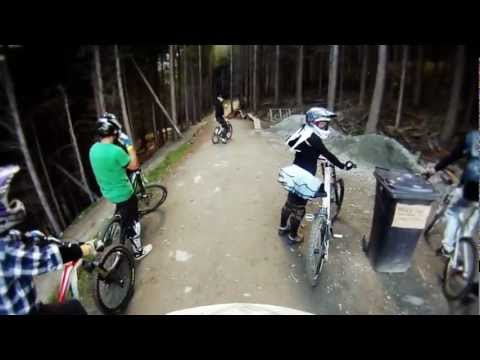 Downhill mountain biking - Skyline Gondola Bike Park, Queenstown New Zealand