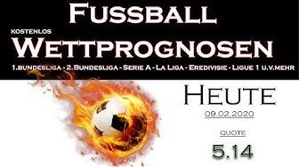 Wettprognose 09.02.2020 Tipps (Quote 5.14) #fussball #wetttipp #wettprognosen