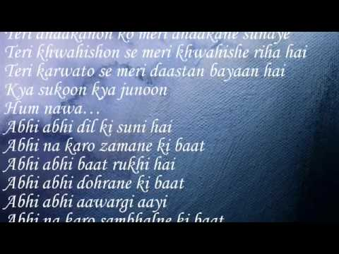 Abhi Abhi (Jism 2) With Lyrics