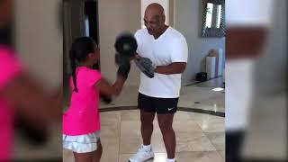 Mike Tyson Training His Son & Daughter