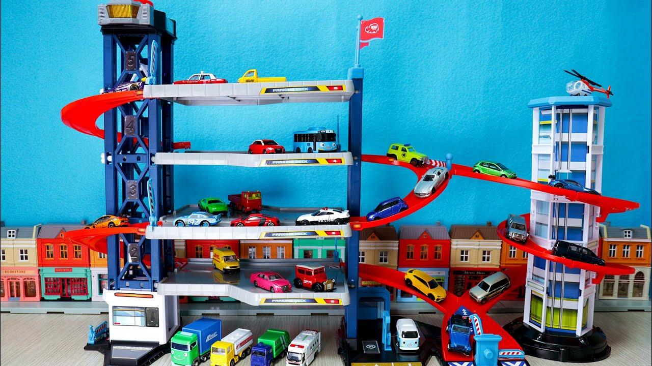 마조렛 주차타워 자동차 장난감 놀이 토미카 시쿠. majorette Parking tower Car toys play Tomica