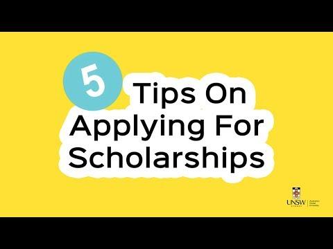 5 Tips On Applying For Scholarships