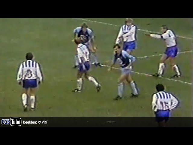 1985-1986 - Jupiler Pro League - 17. Club Brugge - AA Gent 1-1