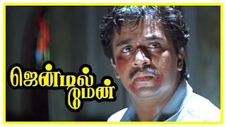 Gentleman Climax Scene   Rajan P Dev is assassinated   Arjun and Madhoo unite   Goundamani   Senthil