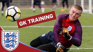 Goalkeeper Training: long-range strikes with Hart, Pickford, Forster & Butland | Inside Training