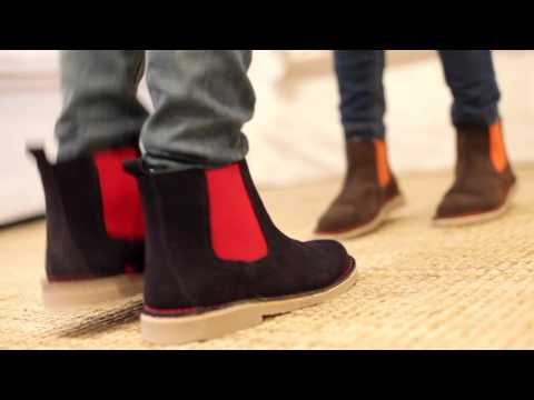 Botines de serraje tipo chelsea boots - Botas Talla 29-41 para Niña y Mujer Pisamonas