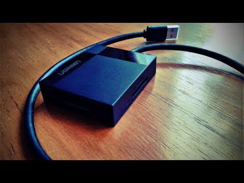 Картридер Ugreen  USB 3.0 все в одном SD/Micro SD/TF/CF/MS. Обзор и тестик!)