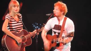 "Taylor Swift and Ed Sheeran ""Everything Has Changed"" Sacramento 8/27/13"