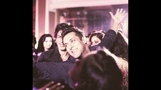 SALMAN KHAN SHAH RUKH KHAN DANCING AT SONAM KAPOOR'S RECEPTION IN MUMBAI_LATEST HD