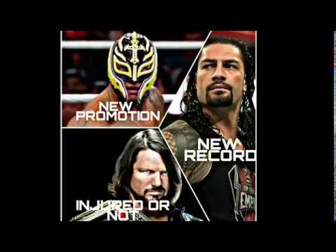 REY MYSTERIO SIGNED NEW CONTRACT|^|ROMAN REIGNS MAKING NEW RECORD|^|AJ STYLES INJURD OR NOT IN MSG ?