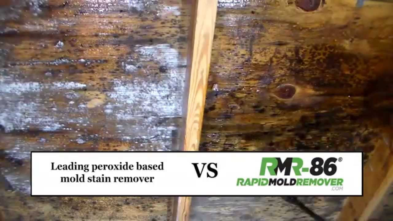 Mold Stain Removal Peroxide Vs Rmr 86 Youtube