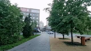 Липецк. Обзор центр города. Комсомольский пруд. Нижний парк Липецк. Театральная площадь.