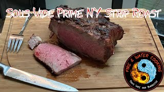 Sous Vide Prime New York Strip Roast from Costco