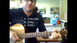 "How to play ""Do Wah Diddy Diddy"" by Manfred Mann on acoustic guitar"