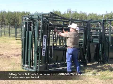Hi-Hog Cattle Squeeze Chute - Part 1 Of 2