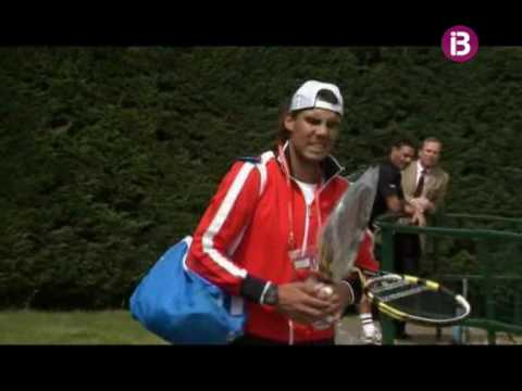 Rafa Nadal entrena con Andy Roddick en el All England Club