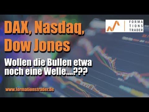 Dax, Dow Jones, Nasdaq: Wollen die Bullen etwa noch eine Welle….???