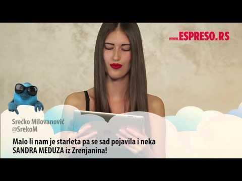 EspresoTviter: Sandra Meduza čita tvitove o sebi