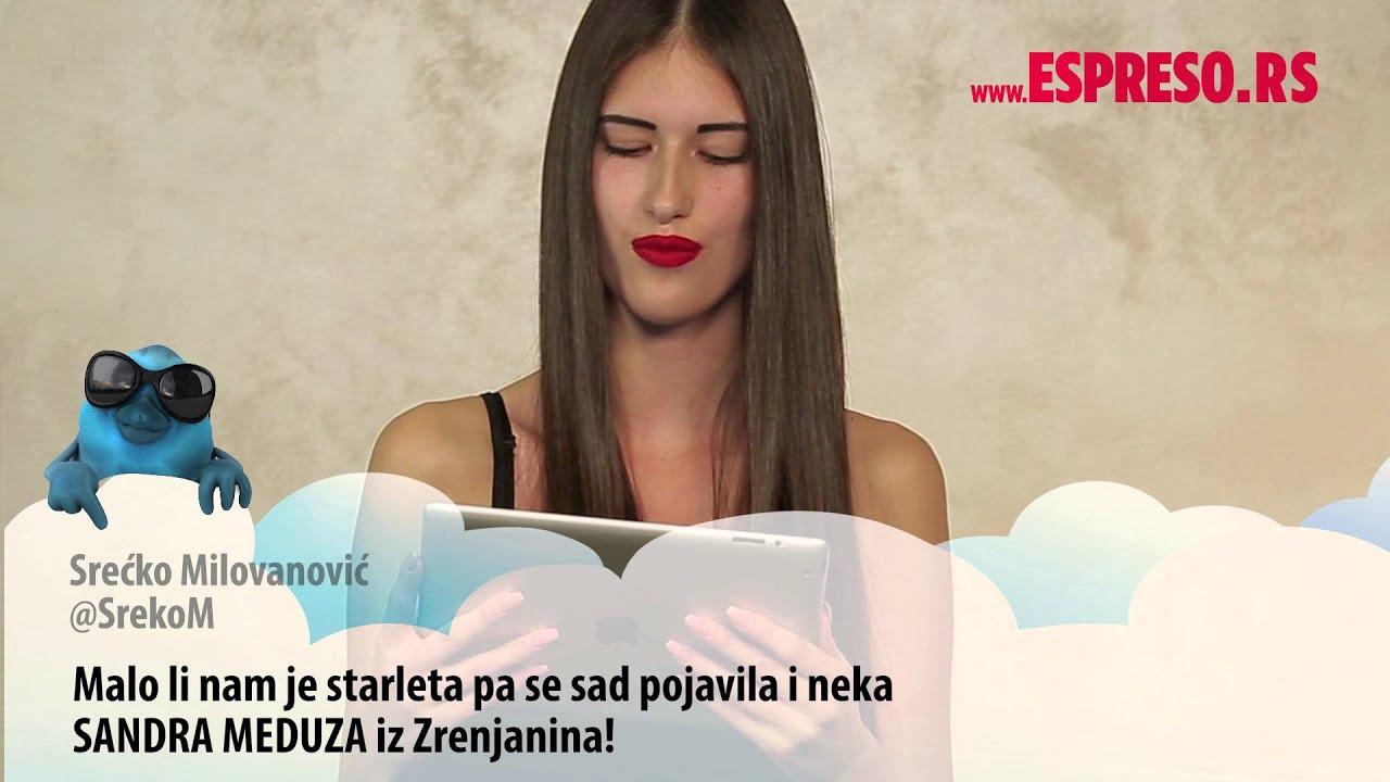 #EspresoTviter: Sandra Meduza čita tvitove o sebi - YouTube