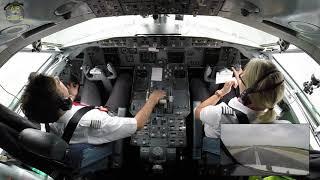 Captain Sandra's POWERFUL Fokker F100 Takeoff: Helvetic Farewell Flight!  [AirClips]
