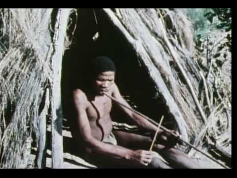 Botswana  San bushmen musical bow performance 1972