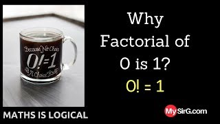 Why factorial of 0 is 1?