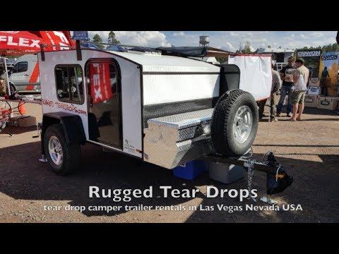 $65 a night Rent a tear drop trailer from Rugged Tear Drops in Las Vegas