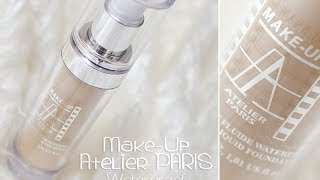 podkład wodoodporny * Make-up Atelier PARIS * waterproof liquid foundation -- TEST NA ŻYWO