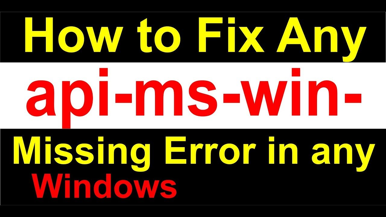 how to fix api-ms-win-crt-runtime-l1-1-0.dll missing in windows 7 in hindi 2019