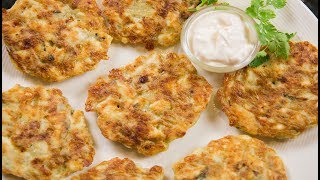 Cheesy Chicken Fritters - Tender, Juicy and Creamy