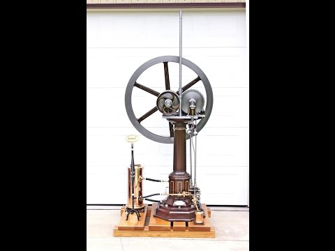 Full size replica of worlds first gas engine - fueled by Hydrogen - Otto Langen Atmospheric