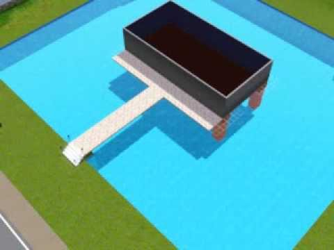 sims 3 wie baut man ein pool unter einem haus youtube. Black Bedroom Furniture Sets. Home Design Ideas