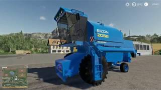 Bizon Rekord z058 NH do Farming Simulator 19